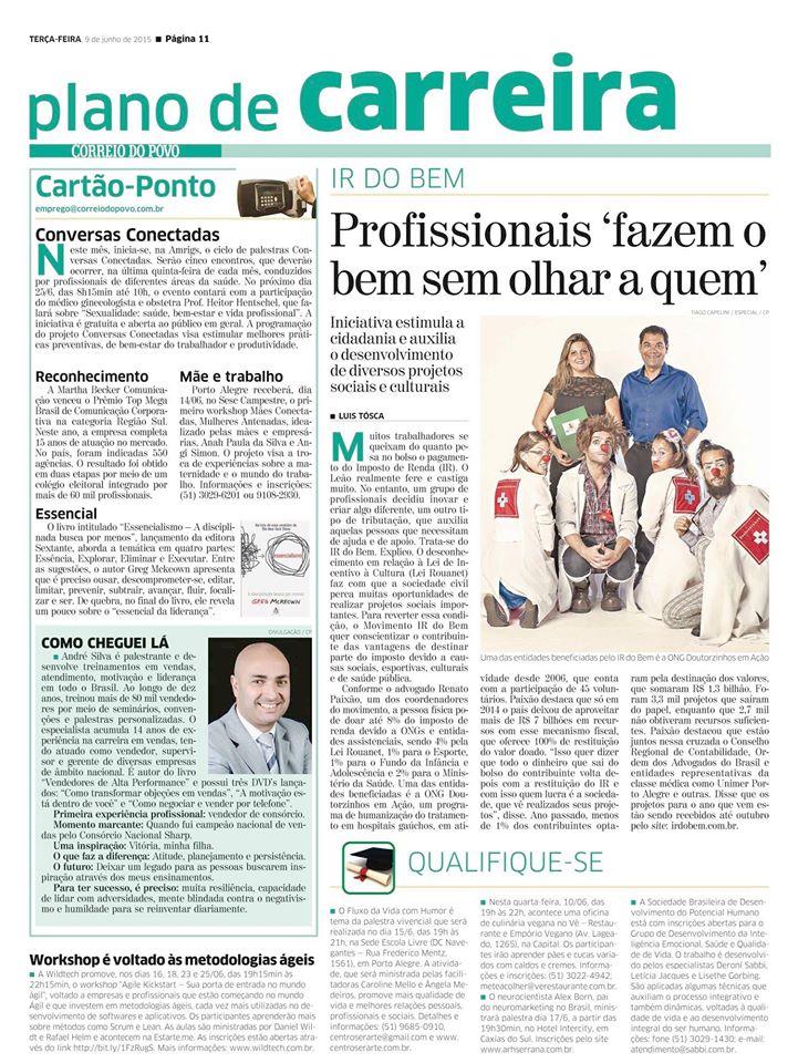 Página Jornal Correio do Povo